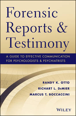 Forensic Reports & Testimony book