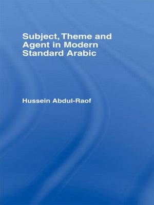 Subject, Theme and Agent in Modern Standard Arabic book