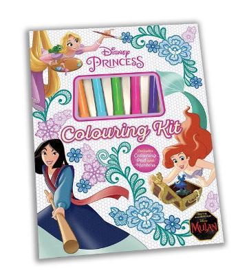 DISNEY PRINCESS COLOURING KIT book