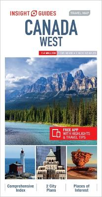 Insight Guides Travel Map Canada West by