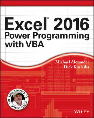 Excel 2016 Power Programming with VBA by Michael Alexander