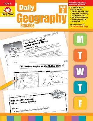 Daily Geography Practice Grade 3 by Evan-Moor Educational Publishers