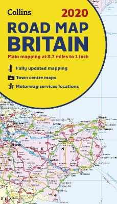 2020 Collins Map of Britain by Collins Maps
