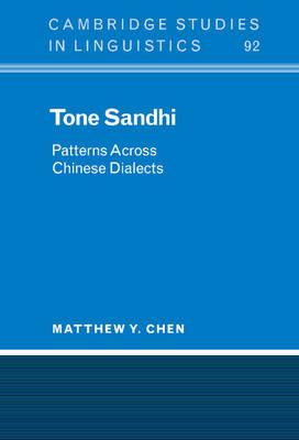 Tone Sandhi by Matthew Y. Chen