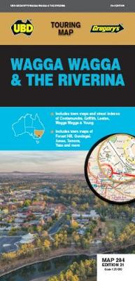 Wagga Wagga & The Riverina Map 284 21st ed by UBD Gregory's
