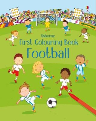 First Colouring Book Football book