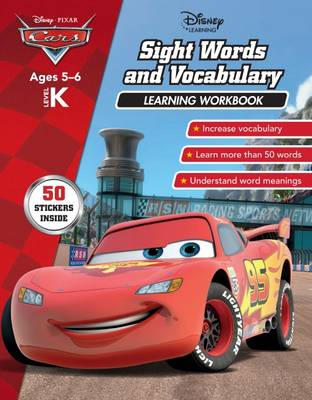 Disney Cars - Sight Words and Vocabulary Learning Workbook by