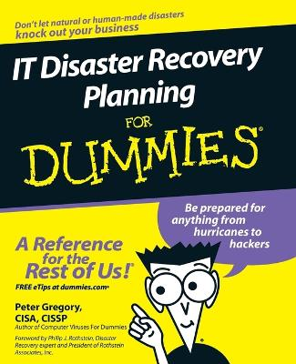It Disaster Recovery Planning for Dummies book