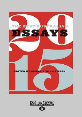The Best Australian Essays 2015 book