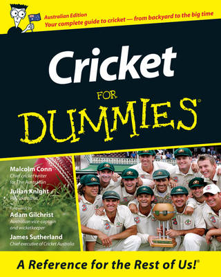 Cricket for Dummies Australian Edition by Adam Gilchrist