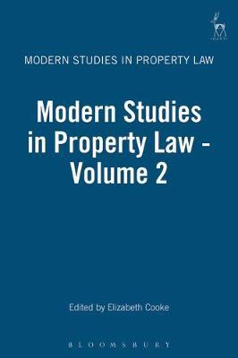 Modern Studies in Property Law 2 by Elizabeth Cooke
