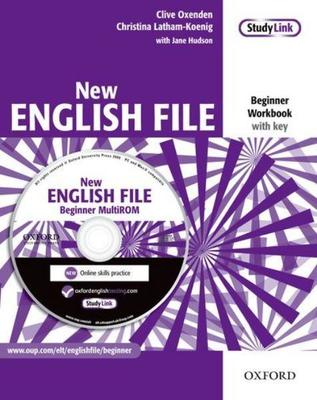 New English File: Beginner: Workbook with key and MultiROM Pack: Six-level general English course for adults by Christina Latham-Koenig