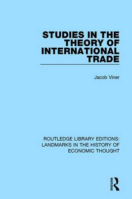 Studies in the Theory of International Trade book