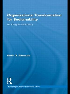Organizational Transformation for Sustainability book