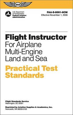 Flight Instructor Practical Test Standards for Airplane Multi-Engine by Federal Aviation Administration (FAA)