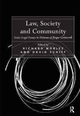 Law, Society and Community by Richard Nobles