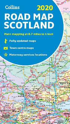 2020 Collins Map of Scotland by Collins Maps