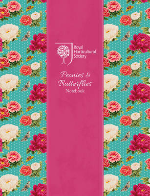 RHS Peonies and Butterflies Notebook (Silver) by