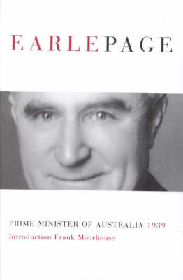 Earle Page by Sir Earle Page