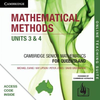 CSM QLD Mathematical Methods Units 3 and 4 Online Teaching Suite (Card) by Michael Evans