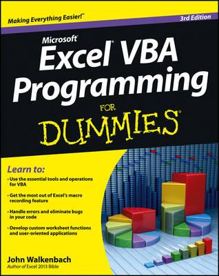 Excel VBA Programming For Dummies by John Walkenbach