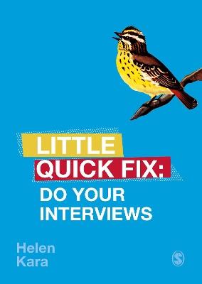 Do Your Interviews: Little Quick Fix by Helen Kara