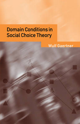 Domain Conditions in Social Choice Theory book