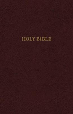 KJV, Thinline Reference Bible, Leather-Look, Burgundy, Red Letter Edition, Comfort Print by Thomas Nelson