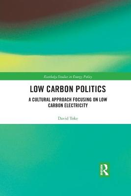 Low Carbon Politics: A Cultural Approach Focusing on Low Carbon Electricity by David Toke