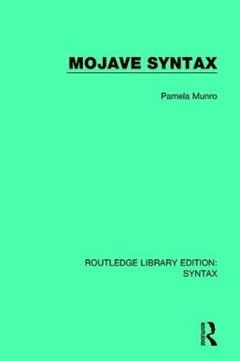 Mojave Syntax by Pamela Munro