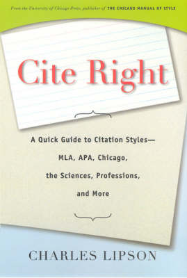 Cite Right by Charles Lipson