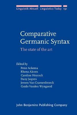 Comparative Germanic Syntax by Rhona Alcorn