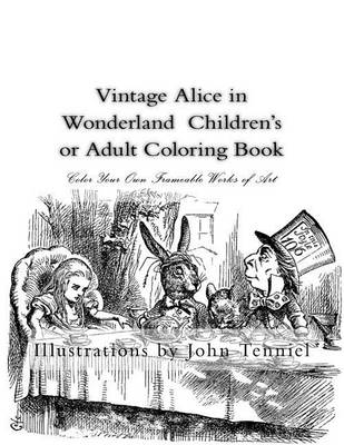 Vintage Alice in Wonderland Children's or Adult Coloring Book by Sir John Tenniel