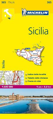 Sicily - Michelin Local Map 365: Map by Michelin