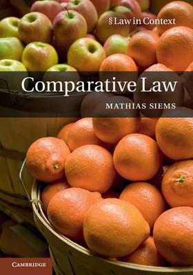 Comparative Law by Mathias M. Siems