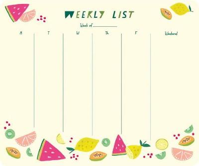 2020 High Note (R) Citrus Weekly To-Do Pad by Sarah Walsh