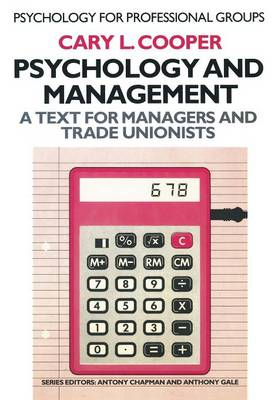 Psychology and Management by Cary L. Cooper