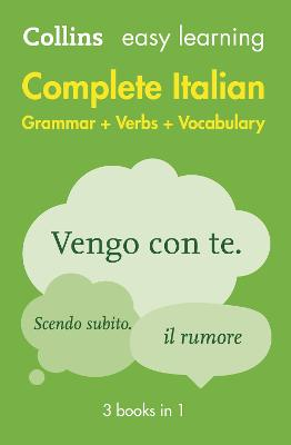 Easy Learning Italian Complete Grammar, Verbs and Vocabulary (3 books in 1) by Collins Dictionaries