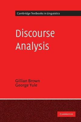 Discourse Analysis by Gillian Brown