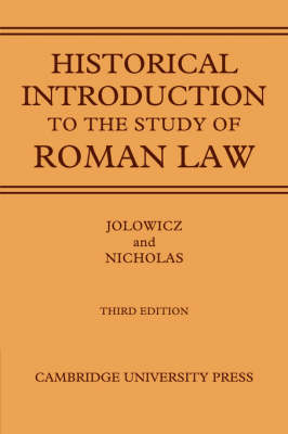 Historical Introduction to the Study of Roman Law book