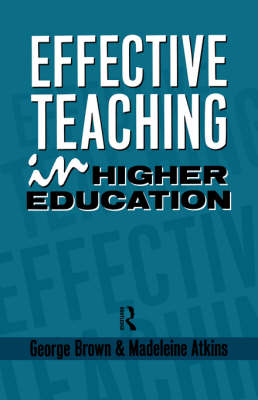 Effective Teaching in Higher Education book