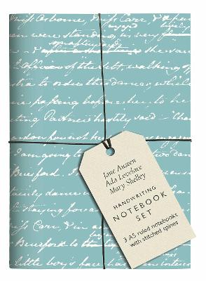 Jane Austen, Ada Lovelace, Mary Shelley Handwriting Notebook Set: 3 A5 ruled notebooks with stitched spines book