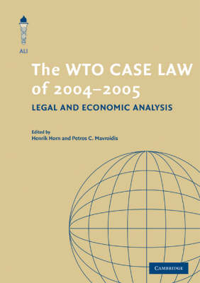 WTO Case Law of 2004-5 book