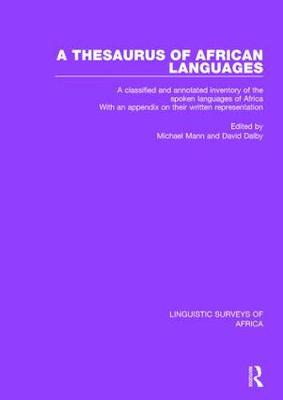 A Thesaurus of African Languages by Michael Mann