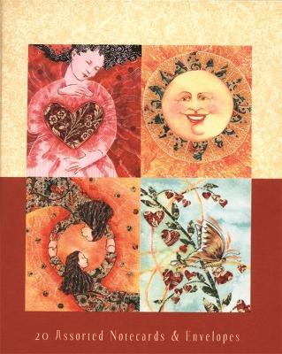 Healing Cards Suede Journal by Caroline Myss