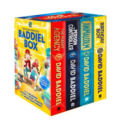 The The Blockbuster Baddiel Box (The Person Controller, The Parent Agency, AniMalcolm, Birthday Boy) by David Baddiel