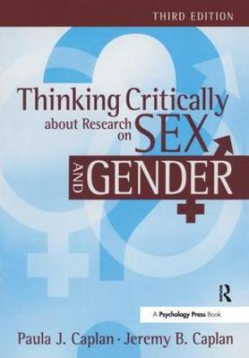 Thinking Critically about Research on Sex and Gender book