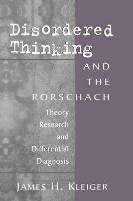 Disordered Thinking and the Rorschach book