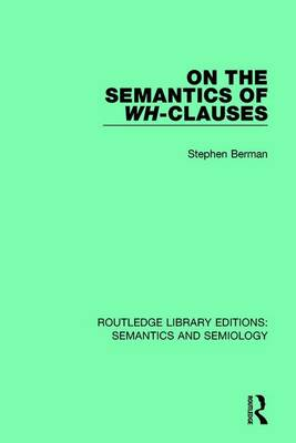 On the Semantics of Wh-Clauses book