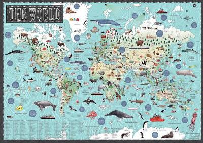 World: Illustrated Map by Tania McCartney